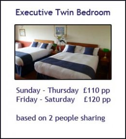 Executive Twin Room Price